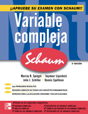 VARIABLE COMPLEJA. SCHAUM / 2 ED.