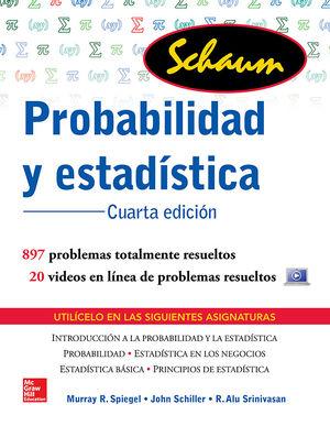 PROBABILIDAD Y ESTADISTICA SCHAUM / 4 ED.