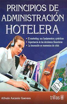 PRINCIPIOS DE ADMINISTRACION HOTELERA