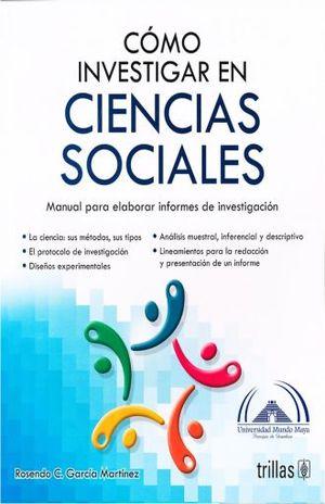 COMO INVESTIGAR EN CIENCIAS SOCIALES