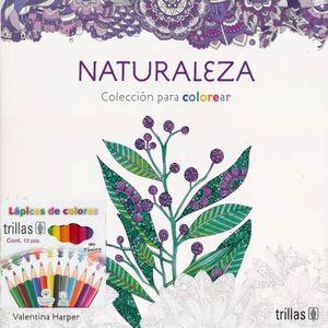 NATURALEZA. COLECCION PARA COLOREAR (INCLUYE CAJA DE COLORES)