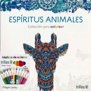 ESPIRITUS ANIMALES. COLECCION PARA COLOREAR (INCLUYE CAJA DE COLORES)
