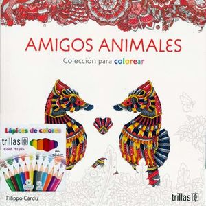AMIGOS ANIMALES. COLECCION PARA COLOREAR (INCLUYE CAJA DE COLORES)