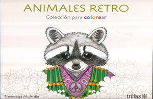 ANIMALES RETRO. COLECCION PARA COLOREAR