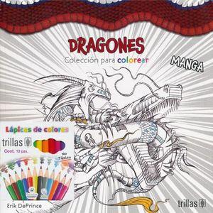 DRAGONES. COLECCION PARA COLOREAR (INCLUYE CAJA DE COLORES)