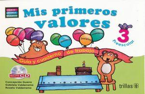 MIS PRIMEROS VALORES 3 PREESCOLAR / 2 ED.