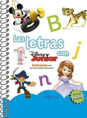 Las letras con Disney (Incluye un plumón borrable)