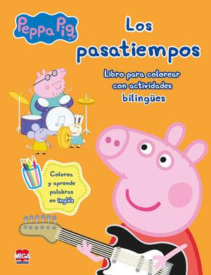 PEPPA PIG LOS PASATIEMPOS. LIBRO PARA COLOREAR CON ACTIVIDADES BILINGUES
