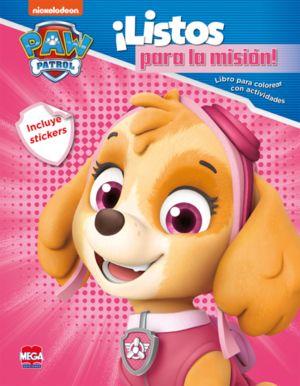Paw Patrol ¡Listos para la misión! Libro para colorear con actividades (Incluye stickers)
