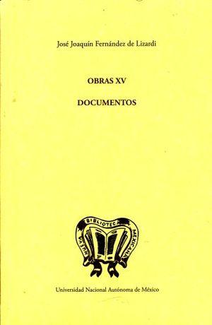 OBRAS XV. DOCUMENTOS