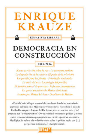 DEMOCRACIA EN CONSTRUCCION 2006 - 2016