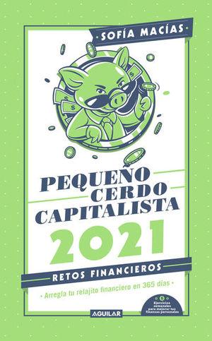 Libro agenda pequeño cerdo capitalista 2021