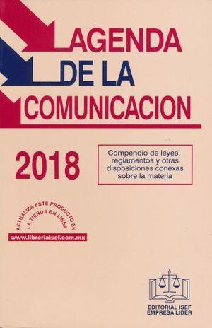 AGENDA DE LA COMUNICACION 2018 (LINEA ECONOMICA)