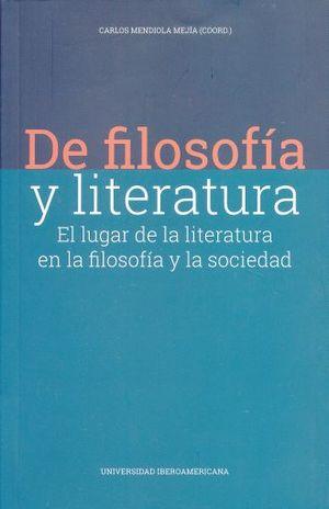 DE FILOSOFIA Y LITERATURA