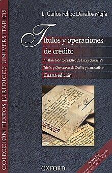 TITULOS Y OPERACIONES DE CREDITO / 4 ED. (INCLUYE CD)