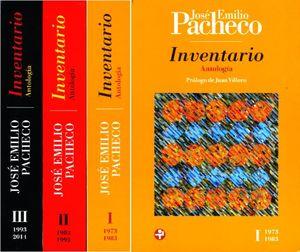 INVENTARIO. ANTOLOGIA / JOSE EMILIO PACHECO / 3 TOMOS / 2 ED.