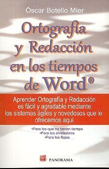 ORTOGRAFIA Y REDACCION EN LOS TIEMPOS DE WORD