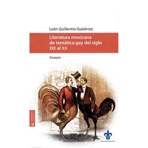 Literatura mexicana de temática gay del siglo XIX al XX