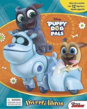 PUPPY DOG PALS DIVERTILIBROS. LIBRO DE CUENTOS CON 12 FIGURAS Y TAPETE GRANDE  / PD.