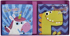 Libros para el baño. El unicornio mágico / El dinosaurio juguetón