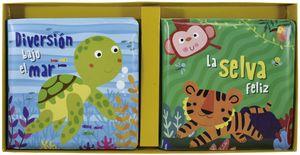 Libros para el baño. La selva feliz / Diversión bajo el mar