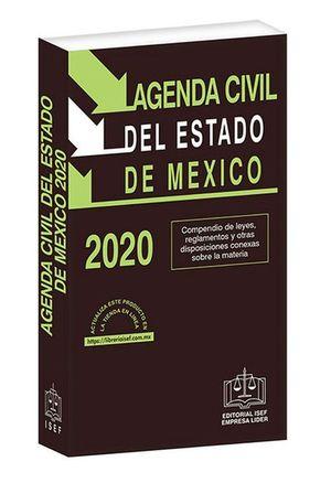 Agenda Civil del Estado de México 2020 / 37 ed. (Económica)