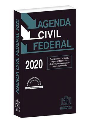Agenda Civil Federal 2020 / 29 ed. (Económica)