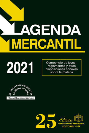 Agenda Mercantil 2021 / 25 ed. (Económica)