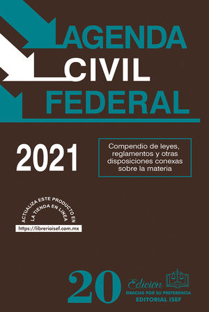 Agenda Civil Federal 2021 / 20 ed. (Económica)