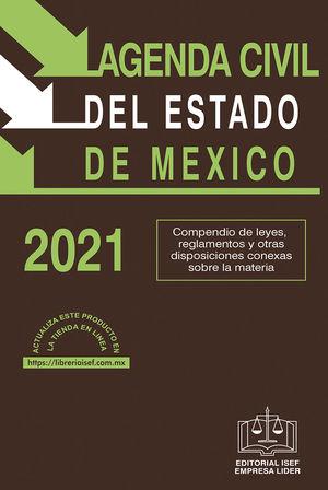 Agenda Civil del Estado de México 2021 / 39 ed. (Económica)