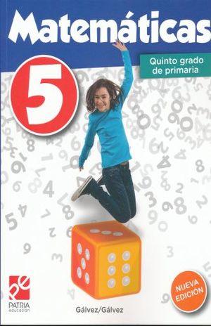 MATEMATICAS QUINTO GRADO PRIMARIA / 6 ED.