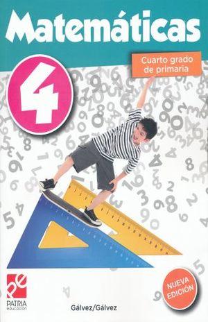 MATEMATICAS 4. CUARTO GRADO DE PRIMARIA / 6 ED.