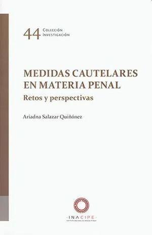 Medidas cautelares en materia penal. Retos y perspectivas