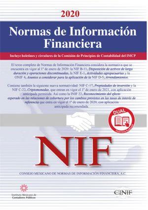 Normas de Información Financiera Dual 2020