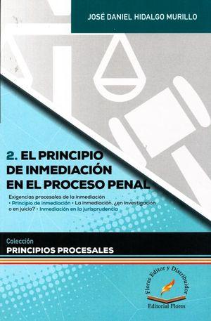 El principio de inmediación en el proceso penal / Vol. 2