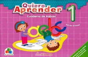 QUIERO APRENDER 1 CUADERNO DE TRABAJO. PREESCOLAR