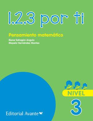 1 2 3 POR TI PENSAMIENTO MATEMATICO NIVEL 3 PREESCOLAR