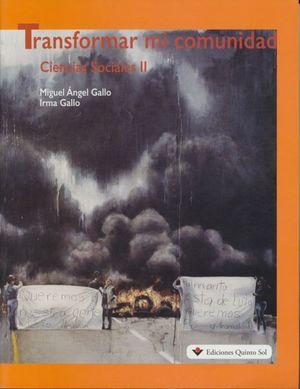 TRANSFORMAR MI COMUNIDAD. CIENCIAS SOCIALES 2 POR COMPETENCIA. BACHILLERATO