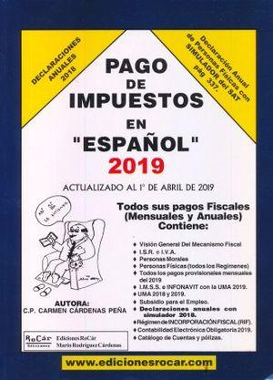PAGO DE IMPUESTOS EN ESPAÑOL 2019