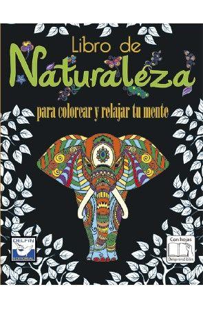 Libro de naturaleza para colorear y relajar tu mente
