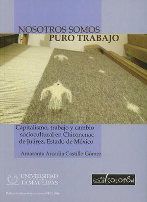 NOSOTROS SOMOS PURO TRABAJO. CAPITALISMO TRABAJO Y CAMBIO SOCIOCULTURAL EN CHINCONCUAC DE JUAREZ ESTADO DE MEXICO