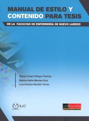MANUAL DE ESTILO Y CONTENIDO PARA TESIS DE LA FACULTAD DE ENFERMERIA DE NUEVO LAREDO