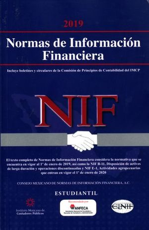 NORMAS DE INFORMACION FINANCIERA 2019 ESTUDIANTIL
