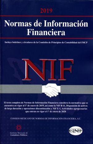 NORMAS DE INFORMACION FINANCIERA 2019 PROFESIONAL