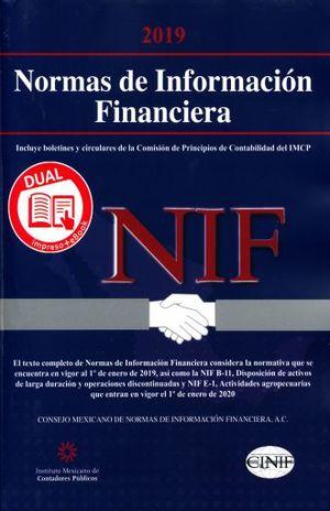 NORMAS DE INFORMACION FINANCIERA 2019 DUAL
