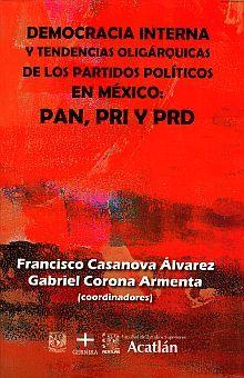 DEMOCRACIA INTERNA Y TENDENCIAS OLIGARQUICAS DE LOS PARTIDOS POLITICOS EN MEXICO. PAN PRI PRD