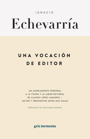 Una vocación de editor