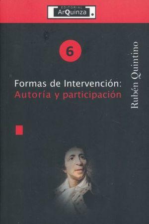 FORMAS DE INTERVENCION. AUTORIA Y PARTICIPACION