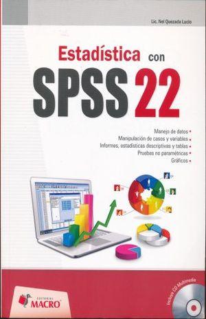 ESTADISTICA CON SPSS 22 (INCLUYE CD)