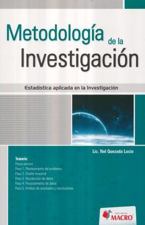 METODOLOGIA DE LA INVESTIGACION. ESTADISTICA APLICADA EN LA INVESTIGACION